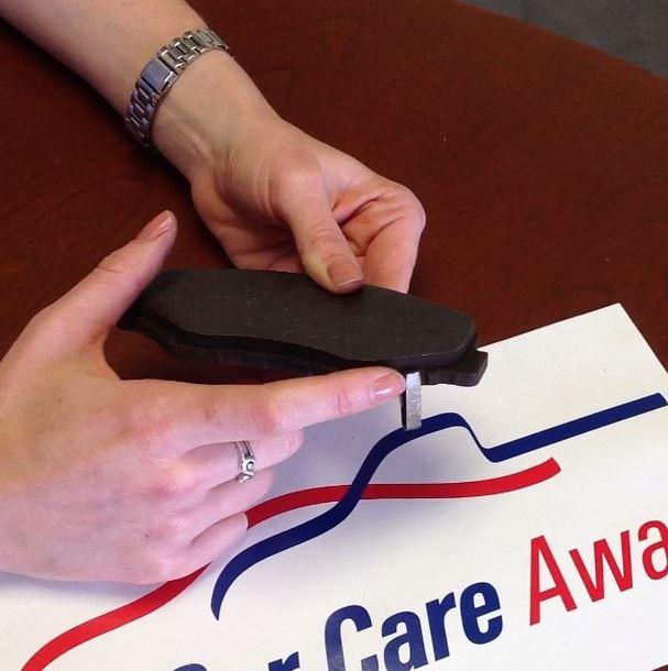 Brake pad wear- video capture