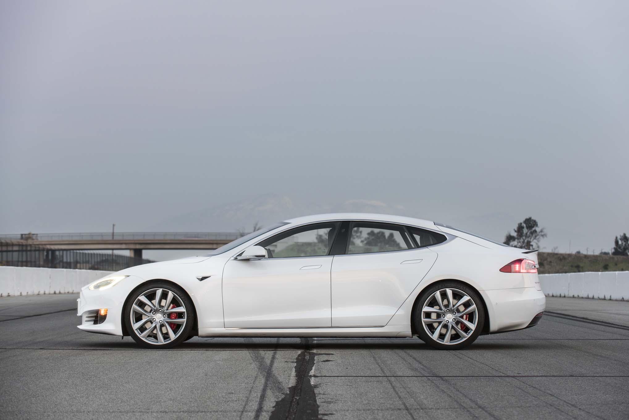 2017 Tesla Model S P100D side