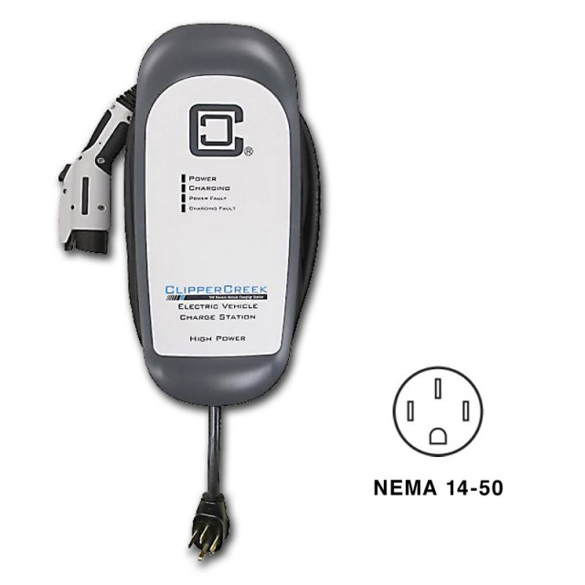 Clipper Creek HCS-40 electric-car charging station (EVSE)