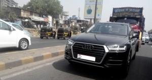 New Model Audi Q7 front pics