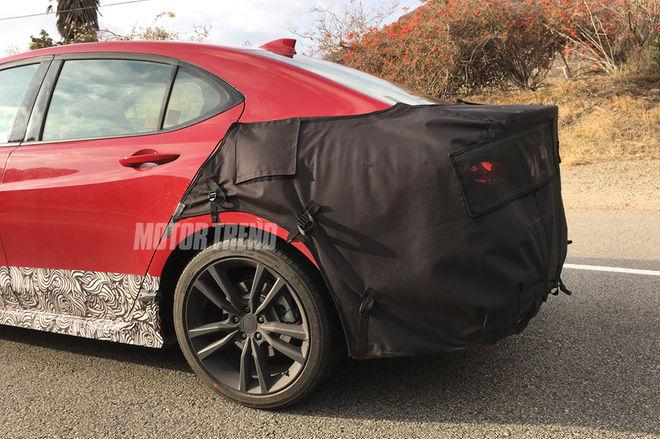 2018-Acura-TLX-prototype-rear-three-quarter