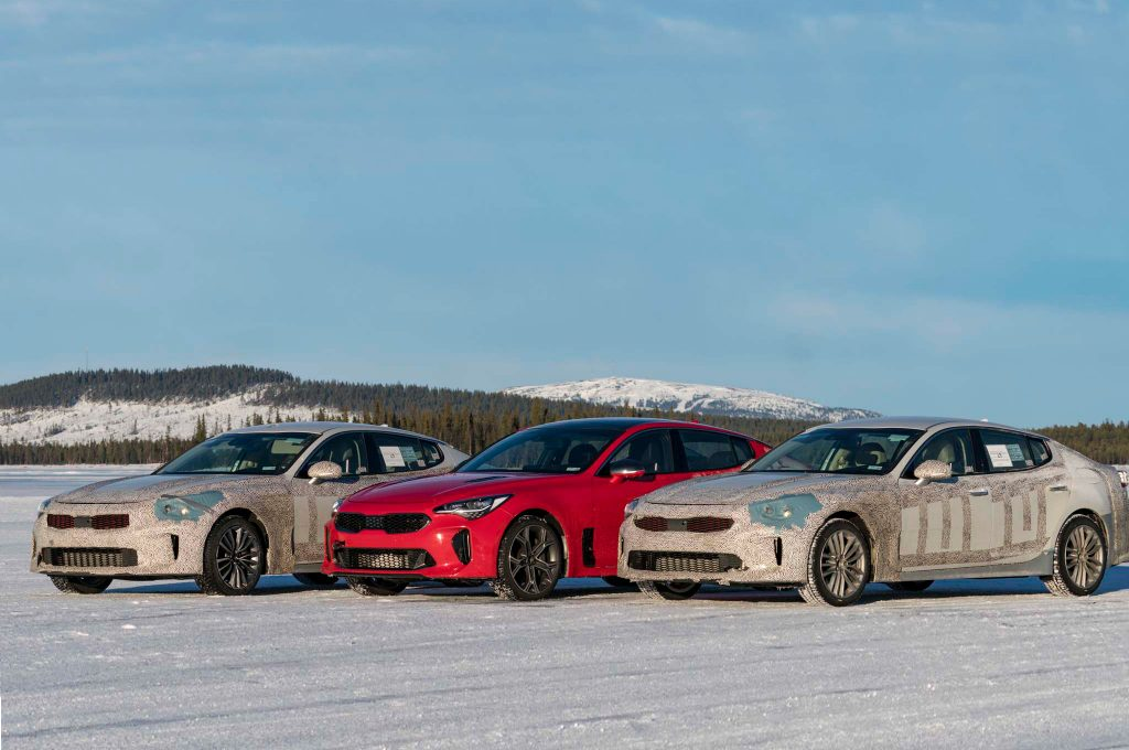 2018-Kia-Stinger-winter-drive-lineup