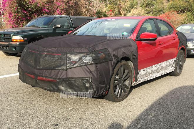 2018-Acura-TLX-prototype-front-three-quarters