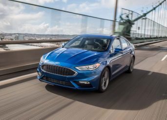 2017-Ford-Fusion-Sport-front-three-quarter-in-motion