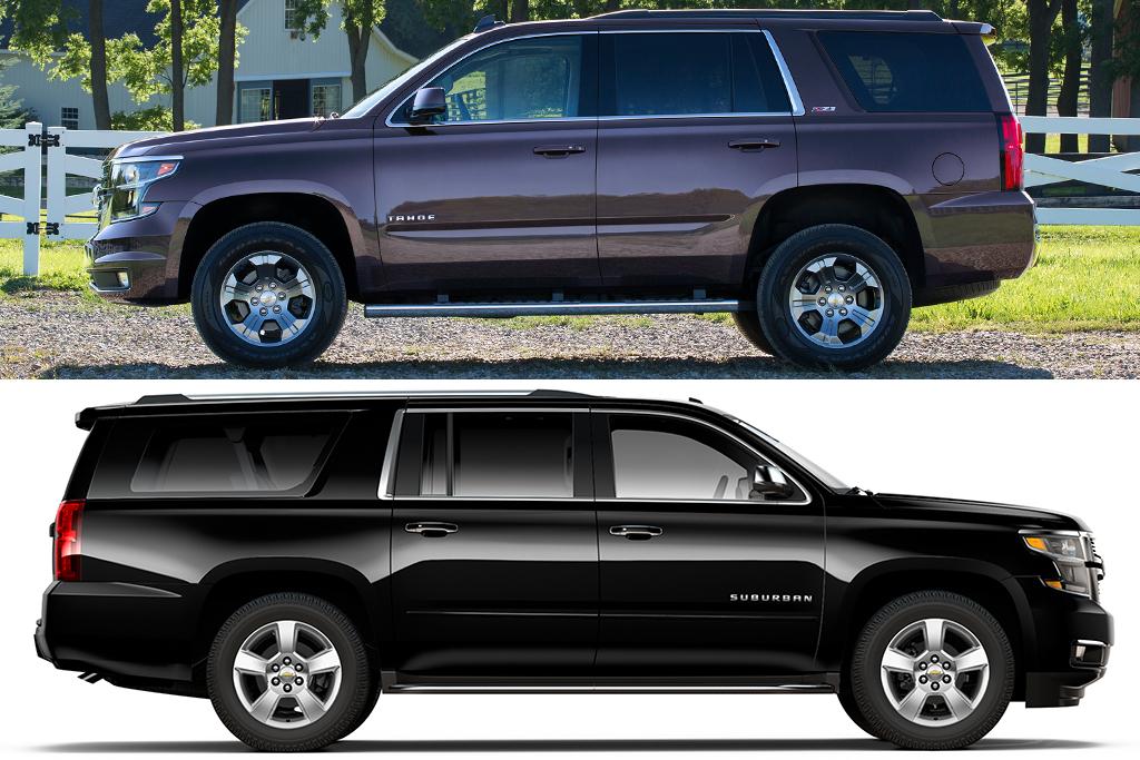 2019 Chevrolet Tahoe vs. 2019 Chevrolet Suburban: What's ...